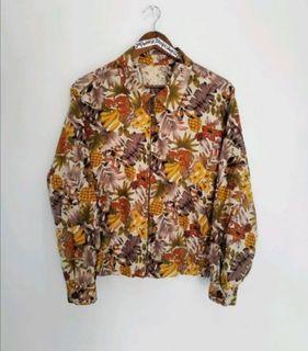 Vintage jun men japan floral jacket