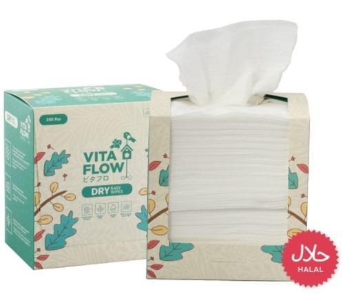 Vita Flow Dry Baby Wipes Satine (200pcs)