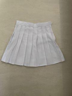 White tennis skirt rok mini skirt y2k