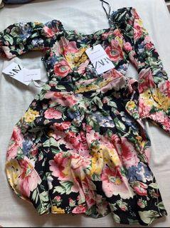 Zara floral coords set - two piece