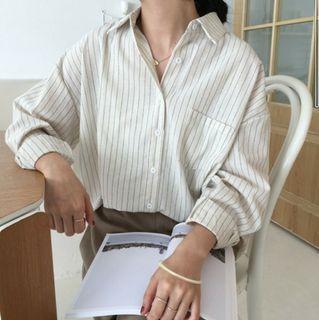 條紋長袖襯衫 #女裝賣家