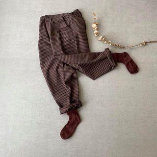 英式老品格紋改良西服彈性打褶西裝褲