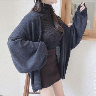 小混毛針織罩衫