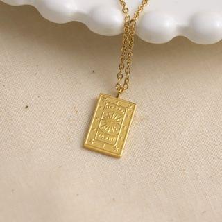 (現貨) 歐美日韓流行輕奢簡約百搭太陽吊牌項鍊精品首飾飾品配戴