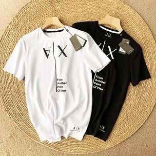 代購 義大利國際精品Giorgio Armani 亞曼尼AX倒反字母印花短袖T恤