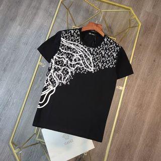 代購 義大利時尚品牌Versace凡賽斯字母印花短袖T恤