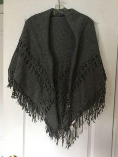 Beautiful large grey shawl.