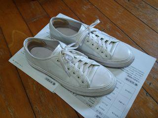 Brunii牛皮帆布鞋 真皮小白鞋