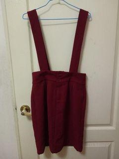 專櫃f.f.f.f 紅色 可愛 吊帶裙 可拆