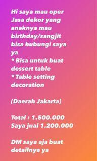 Jual jasa dekor dekor table desser table dekor undangan dekor ulang tahun dekor sangjit
