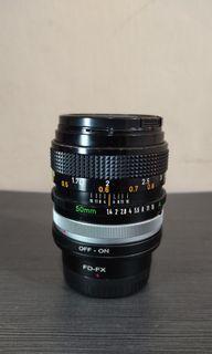 Lensa canon fd 50mm f1.4 manual lens