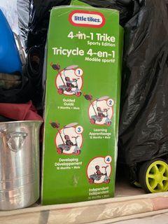Little tikes 4 in 1 Trike Sport edition 4合1 單車  三輪車