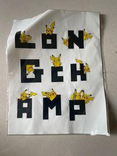 Longchamp 寶可夢聯名貼紙