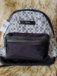Mk Kent Black/White Backpack