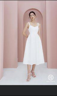 Mollynista Ambily dress in White