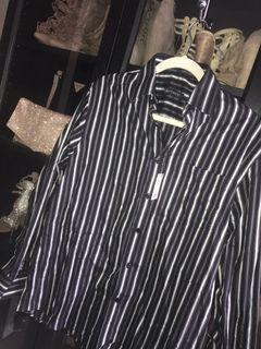 NEW | Mens Striped Dress Shirt Size Medium