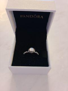 Pandora Clear Stone Ring - Size 5.5