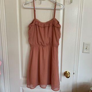 Pull & Bear Pink Summer Dress - Medium