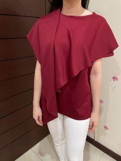 Red maroon top Viorth