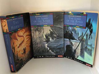 Three J.R.R. Tolkien paperback books