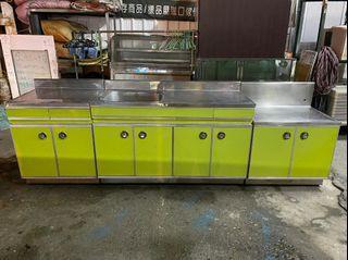 正304 不鏽鋼 三件式流理台 流理檯 櫥櫃 平台 洗手台 全虹二手家具-彰化二手家具-台中二手家具-員林二手家具