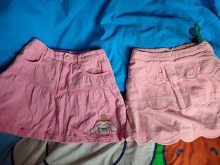 環保價$30蚊兩條 SANRIO玉桂狗粉紅色短裙同遮仔短裙 size:140