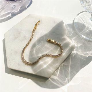 (現貨) 歐美日韓必備百搭簡約小清新輕奢閃亮亮金色精緻手鍊首飾飾品配件