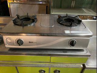 林內 雙口瓦斯爐 煮飯爐 雙口爐 家用瓦斯爐 (桶裝) 全虹二手家具-彰化二手家具-台中二手家具-員林二手家具