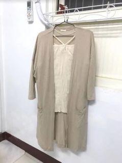 #排行榜 GU uniqlo副牌 燕麥杏色防曬罩衫外套