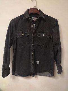 (Size M)Aape 洗水黑色牛仔外套