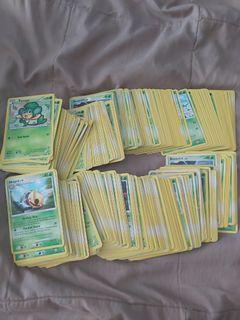 Assorted pokemon grass card