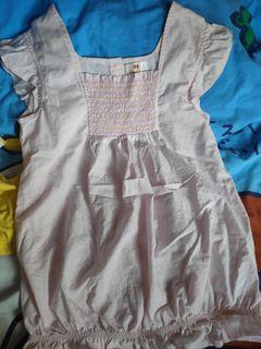 CHICKEEDUCK女童粉紅色上衣 size:160
