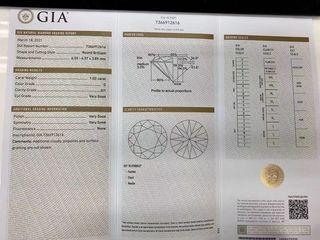 平!GIA證 1.02卡 G色 Si1  VG/VG/VG  N  僅售HKD$39800。大臺面6.57mm可當1.1卡使用。凈度媲美VS 極閃極白。設18K鑲嵌服務