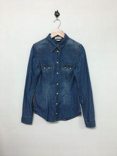 H&M 牛仔襯衫外套