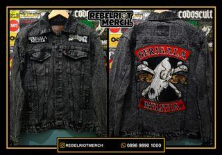 Jaket custom Seringai - serigala militia