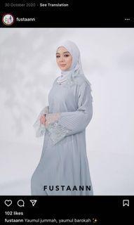 Merci pleated abaya by Fustaan size s (50)