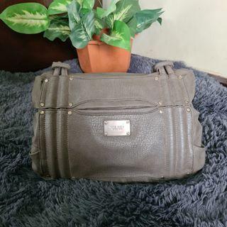 Nine West Gray Leather Shoulder Bag
