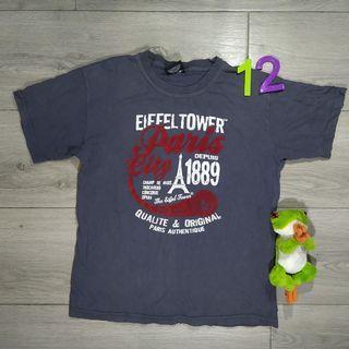 Paris gray felt print t-shirt (size 12)