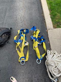 Roof worker tools and equipment