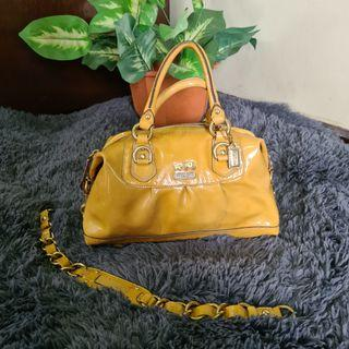 Two Way Coach Synthetic Leather hand/cross body bag
