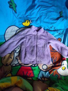 UNIQLO女童粉紫色絨毛外套 size :120