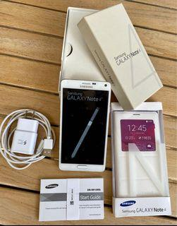 ⭐️Unlocked Samsung Note 4 phone with charger,cord,pencil,original box and pamphlets and BRAND NEW SAMSUNG FOLIO CASE ⭐️