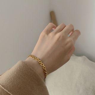 (現貨) 歐美日韓網紅必備小眾精緻清奢簡約百搭時尚金色手鍊首飾飾品配件