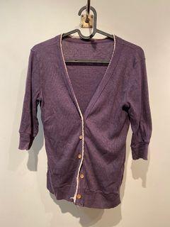 紫色七分袖 小外套