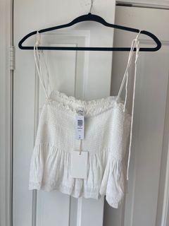 Aritzia Wilfred Dewdrop Camisole - White - size L