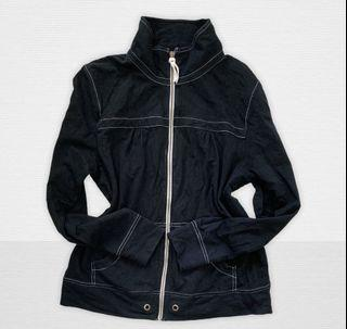 Black Cotton Jacket/L-XL/Branded