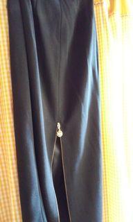 Black wool long skirts