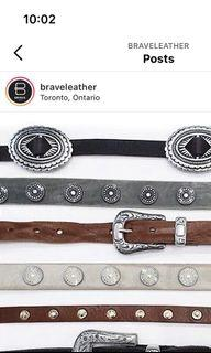 Brave leather Western Belt (top piece in picture)
