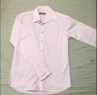 Criterion Pink Longsleeves Polo for Men