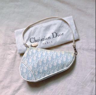 dior saddle vintage baby blue